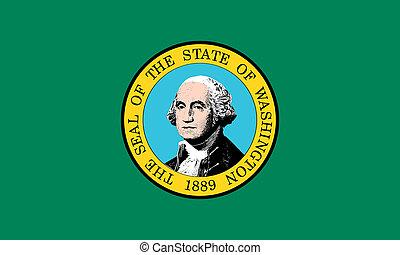 Flag of Washington state correct size illustration