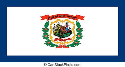 Flag of West Virginia correct size illustration