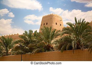 Old arabic city - Streets of the old city Diriyah near Ar...