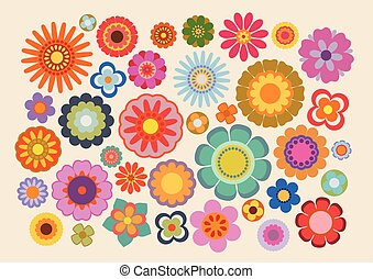 Vintage flowers (part 4) - Vector illustration of the...