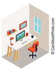 workspace isometric design