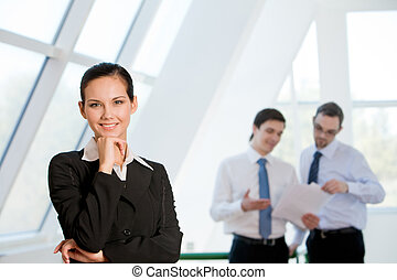 Confident woman - Portrait of attractive business lady...