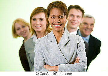 Confident employer - Portrait of successful businesswoman...