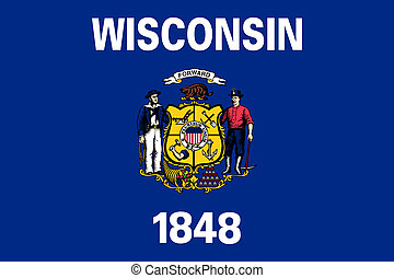 Flag of Wisconsin correct size color illustration -...
