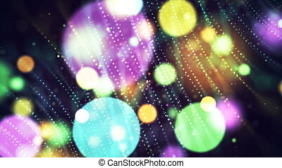HD Loopable Background with nice abstract multicolor bokeh