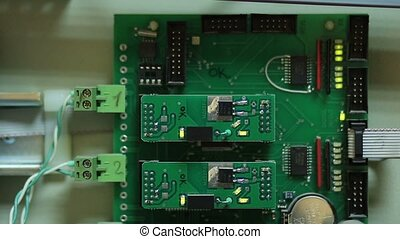 Closeup of electronic circuit board - Close up of electronic...