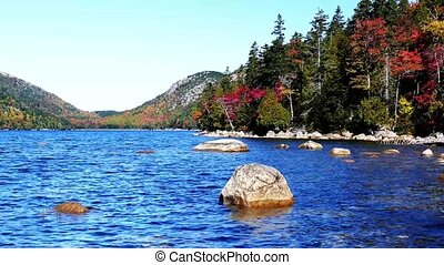 Autumn colors from Acadia National Park near Jordan Pond