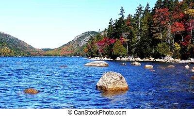 Autumn colors from Acadia National Park near Jordan Pond
