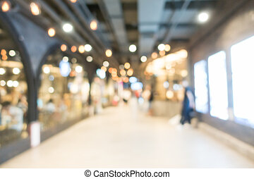 Abstract blur shopping mall - Abstract blur beautiful luxury...