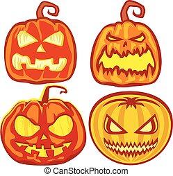 Helloween sets - halloween holiday pumpkin,poster,banner