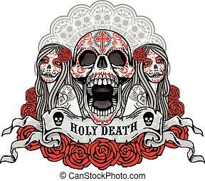 Sugar Skull - halloween holiday pumpkin,poster,banner