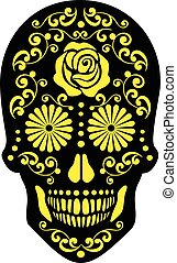 sugar skull - halloween holiday pumpkin,poster,banner