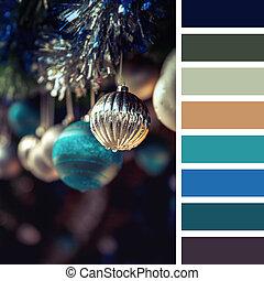 Christmas baubles palette