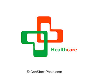 Medical Cross Logo Pharmacy natural eco Clinic design...