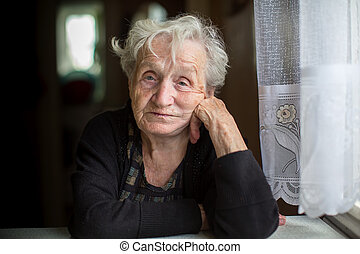 Portrait of an elderly lady.