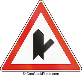 Belgian regulatory road sign - Intersection with priority.