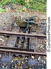 Points in narrow gauge railway track - Narrow gauge rail...