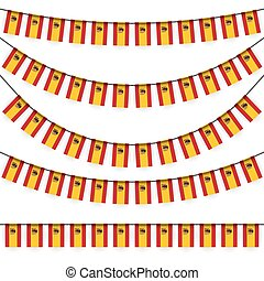 garlands with spanish national colors - different garlands...