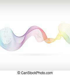 Abstract rainbow smoke - An abstract rainbow smoke design