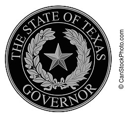 Texas State Governor Seal - The seal of the United Steas of...