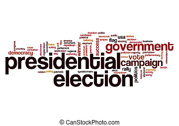 Presidential election word cloud concept