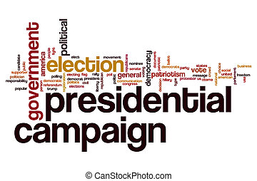 Presidential campaign word cloud concept