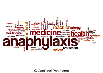 Anaphylaxis word cloud concept
