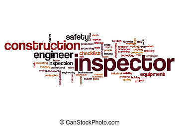 Inspector word cloud concept
