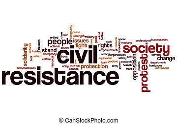 Civil resistance word cloud concept
