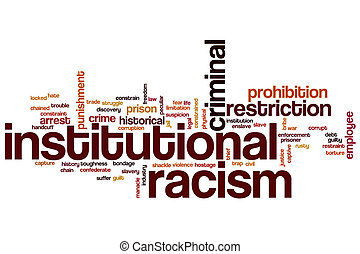 Institutional racism word cloud concept