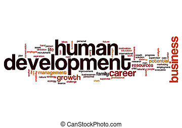 Human development word cloud concept