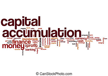 Capital accumulation word cloud