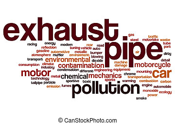 Exhaust pipe word cloud concept