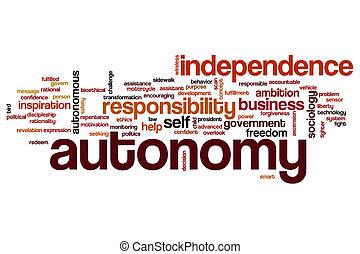 Autonomy word cloud concept