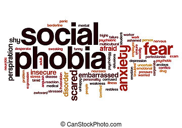 Social phobia word cloud concept