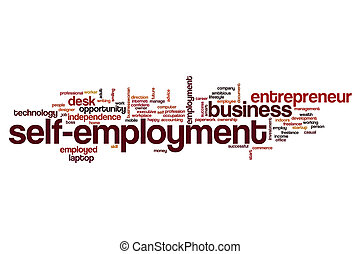 Self-employment word cloud concept