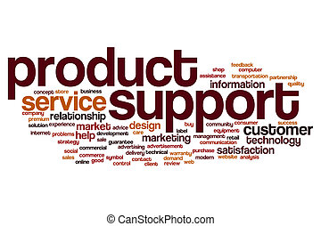 Product support word cloud