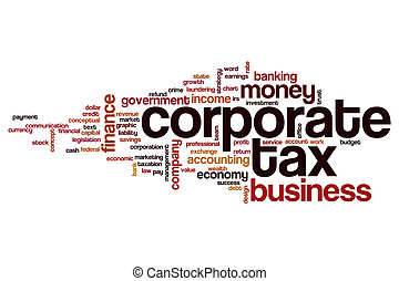 Corporate tax word cloud concept