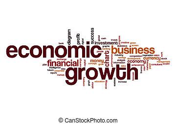 Economico, parola, nuvola, crescita