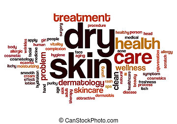 Dry skin word cloud concept