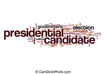 Presidential candidate word cloud concept