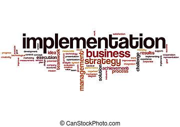 Implementation word cloud concept