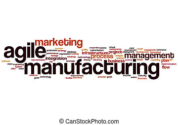 Agile manufacturing word cloud concept