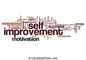 Self improvement word cloud concept