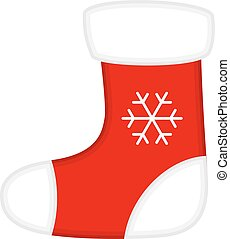 Christmas Red and White Socks