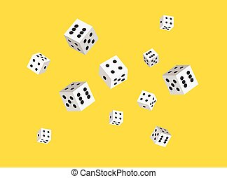 Vector dices background for casino. Sharp edges. Flat style...