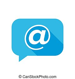 Flat icon of email sign