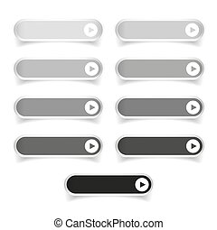 Greyscale long round buttons