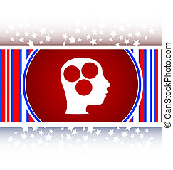 idea head circle glossy icon