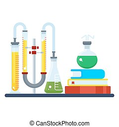 educational chemical laboratory - Concept of educational...